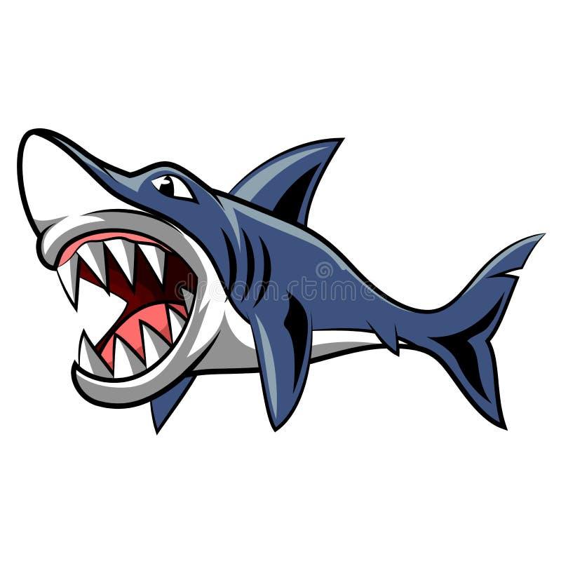 Сердитый талисман акулы иллюстрация вектора