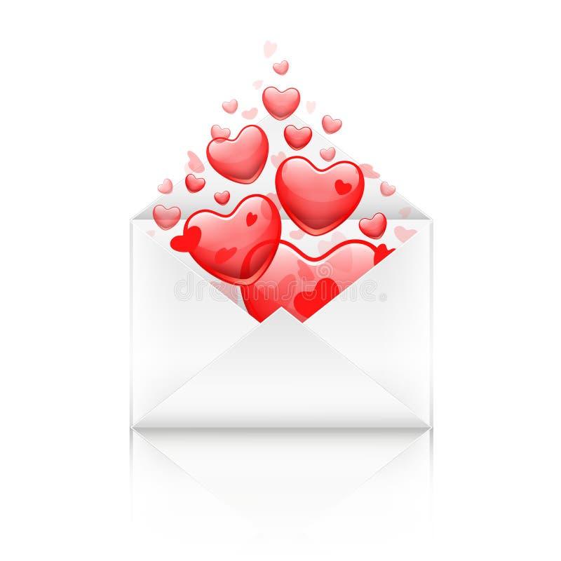 сердца габарита красные бесплатная иллюстрация