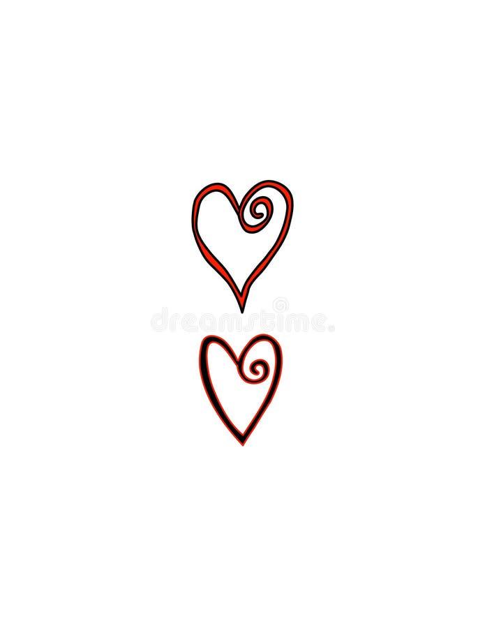 сердца двухпроводные иллюстрация штока