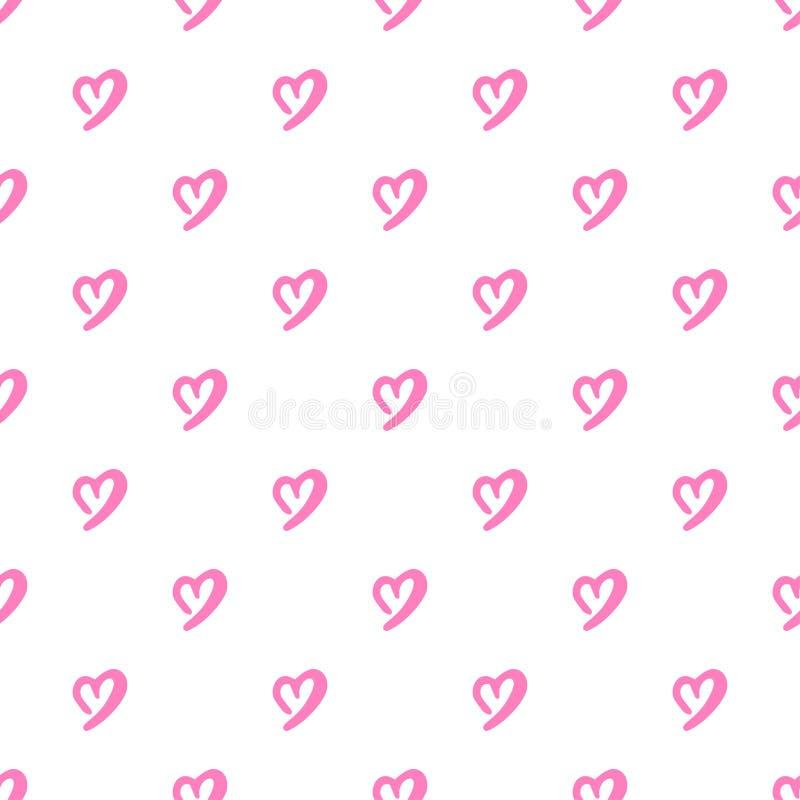 сердца делают по образцу безшовное Украшение дня или свадьбы валентинок иллюстрация вектора