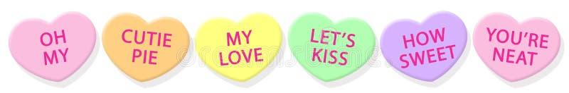 сердца конфеты горизонтальные бесплатная иллюстрация
