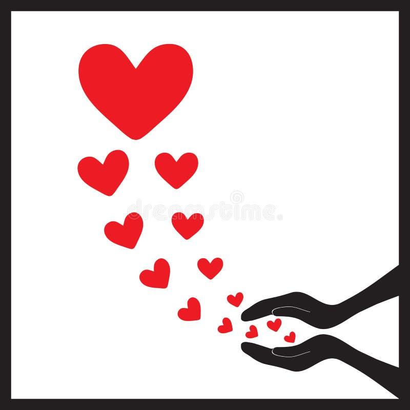 Сердца летают up1 иллюстрация вектора