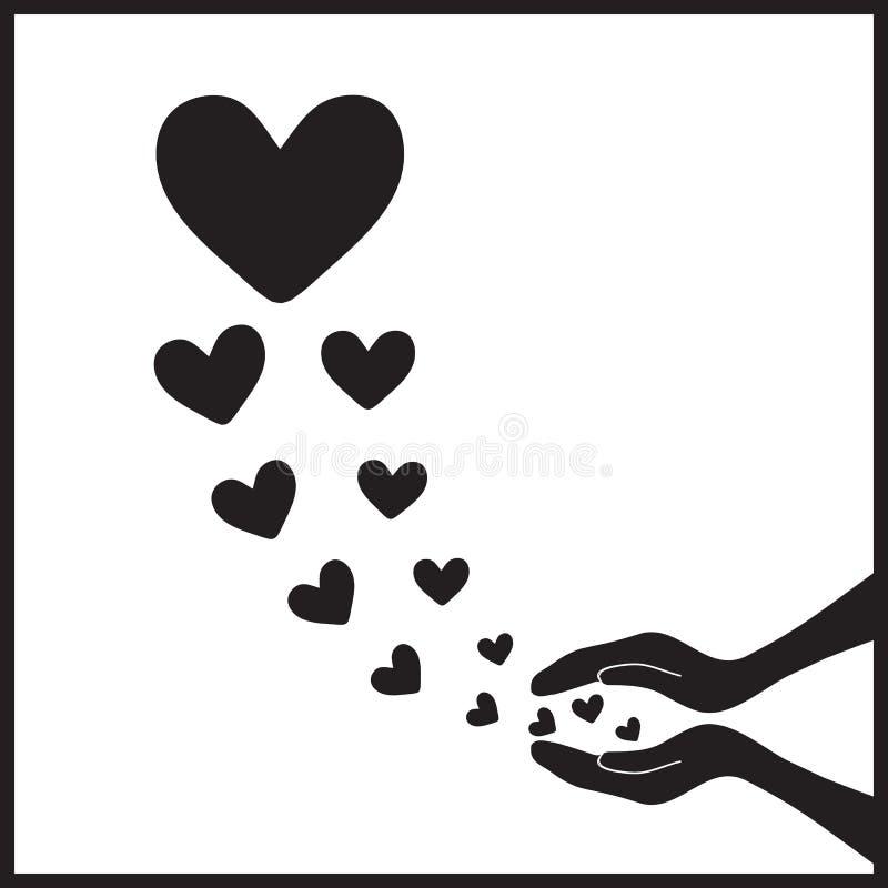 Сердца летают up5 иллюстрация вектора