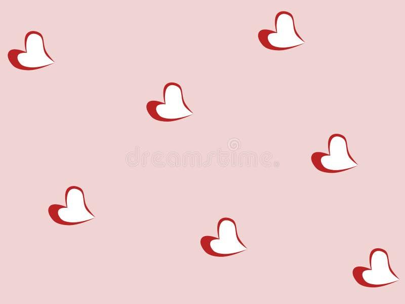 Сердца на розовом фоне, текстура Фигуры, мелкие элементы Графическая иллюстрация современная, векторная иллюстрация штока