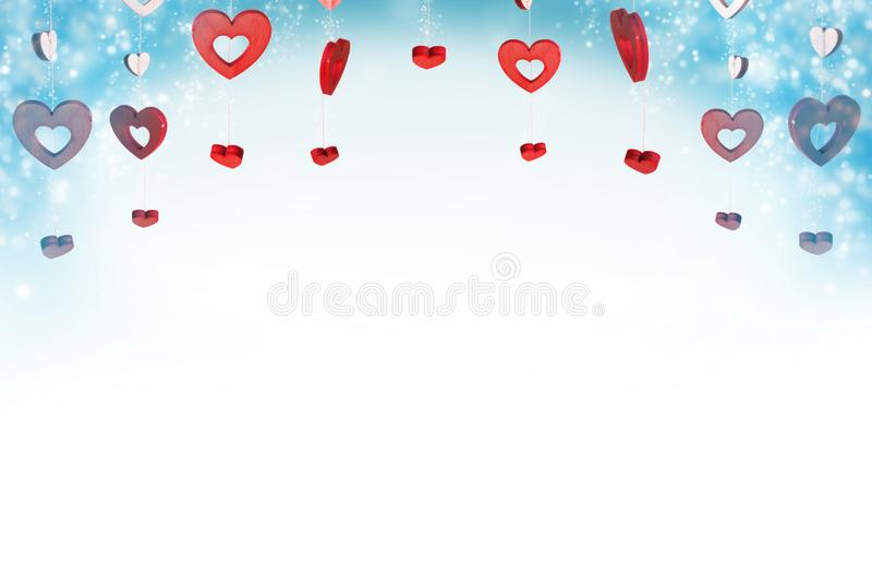сердца предпосылки красные иллюстрация вектора