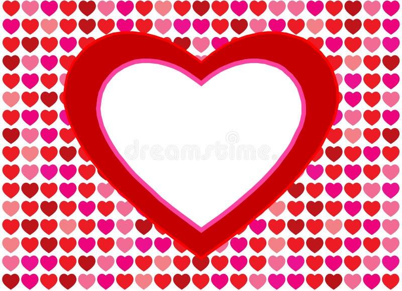 сердца предпосылки любят красный цвет иллюстрация штока