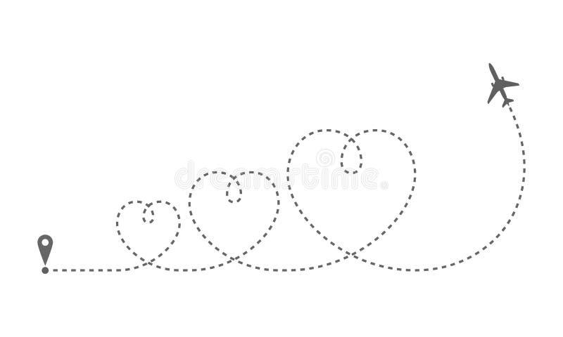 Сердца самолета 3 маршрута бесплатная иллюстрация