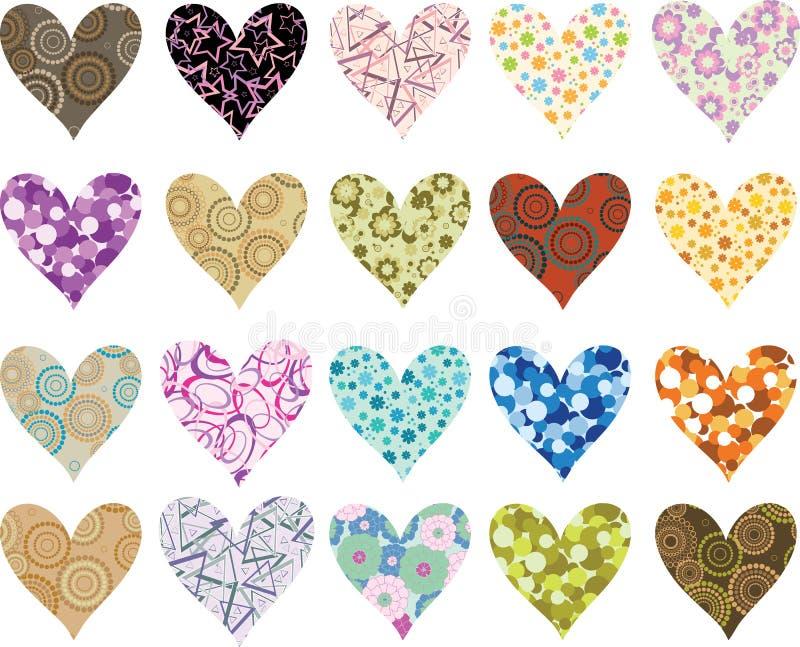 сердца установили valentines иллюстрация вектора