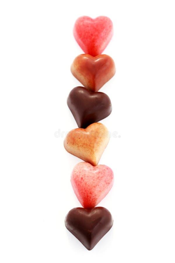 сердца шоколада стоковое фото rf