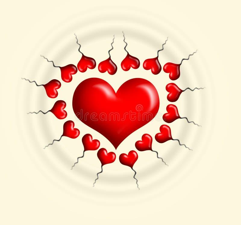 Download сердца иллюстрация штока. иллюстрации насчитывающей конструкция - 487648