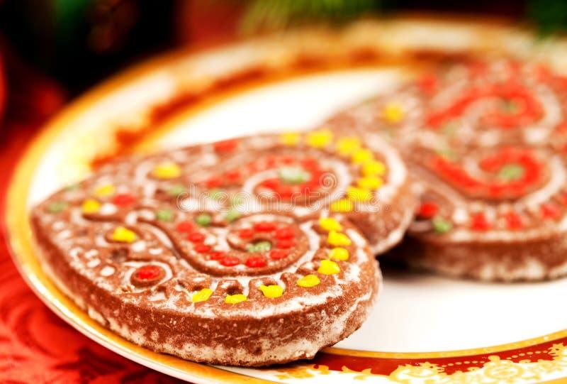 сердца gingerbreads вкусные стоковые изображения rf