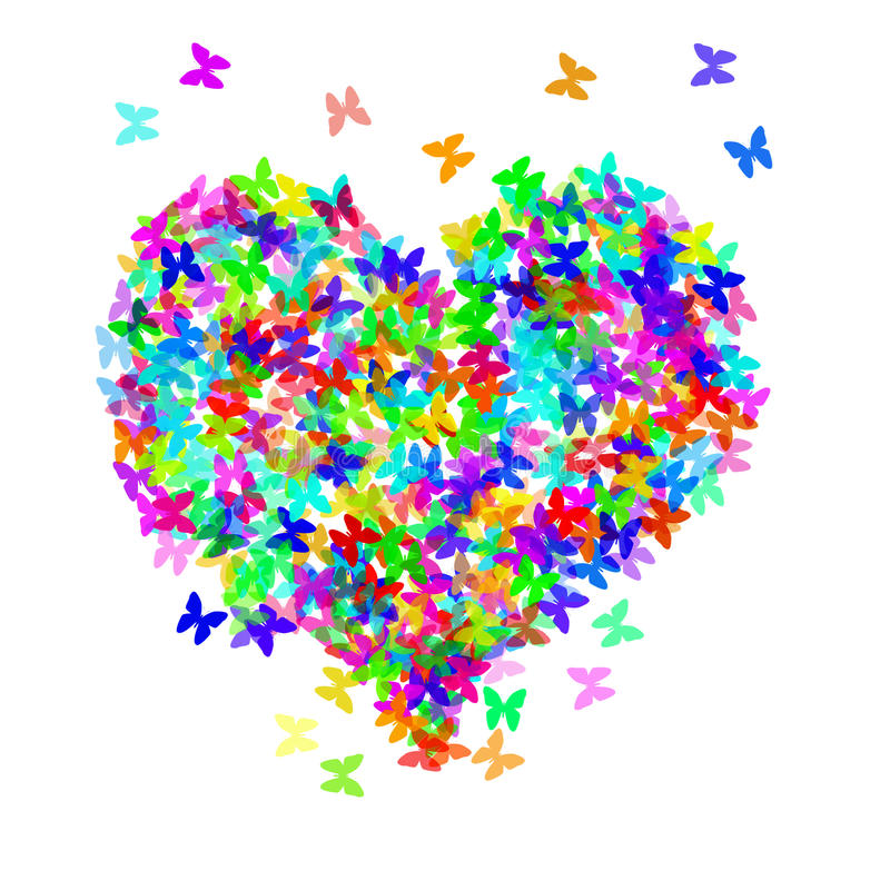 сердце бабочек иллюстрация штока