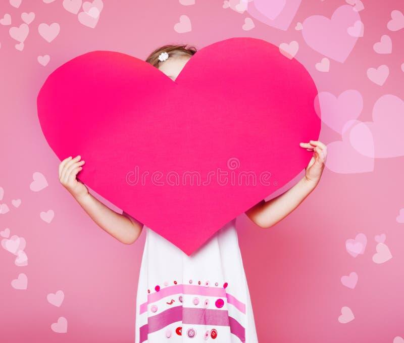 Сердце большой бумаги Стоковое Изображение