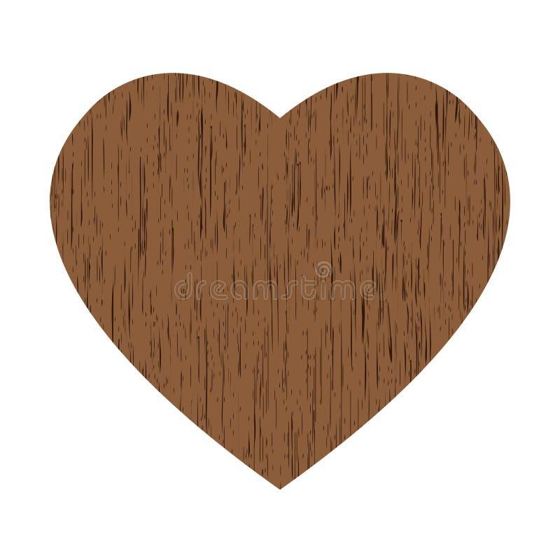 сердце деревянное иллюстрация штока