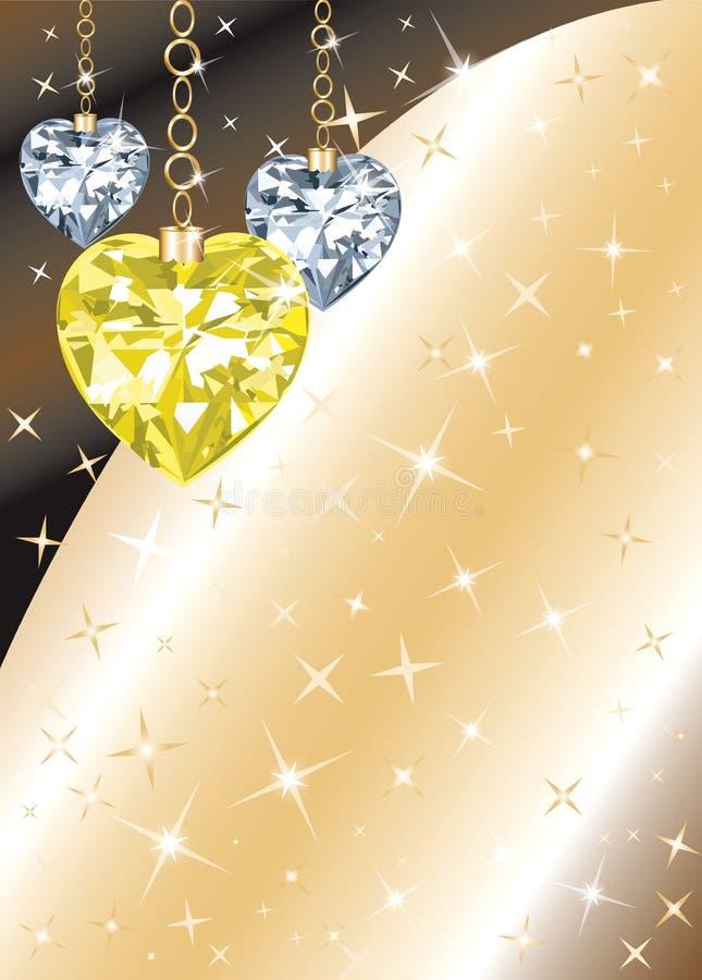 сердце диаманта предпосылки иллюстрация штока