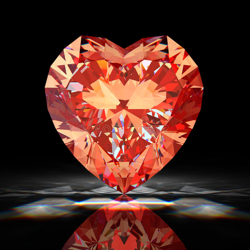 сердце диаманта иллюстрация вектора