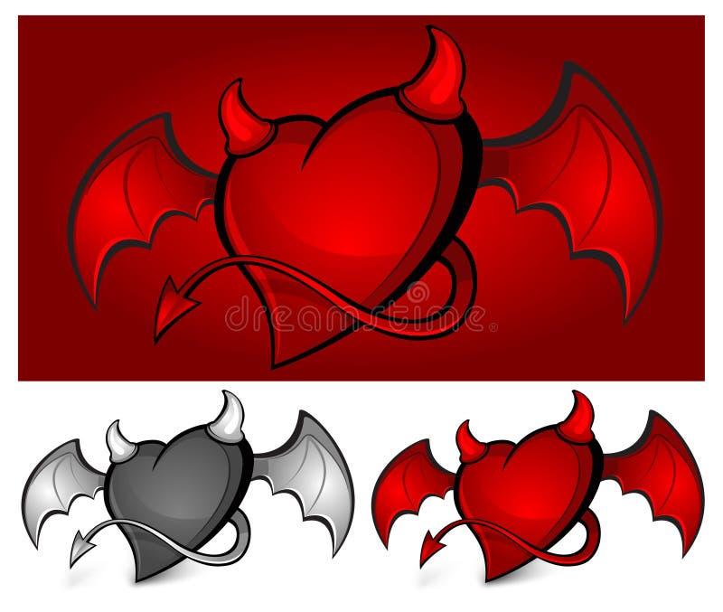сердце дьявола иллюстрация штока