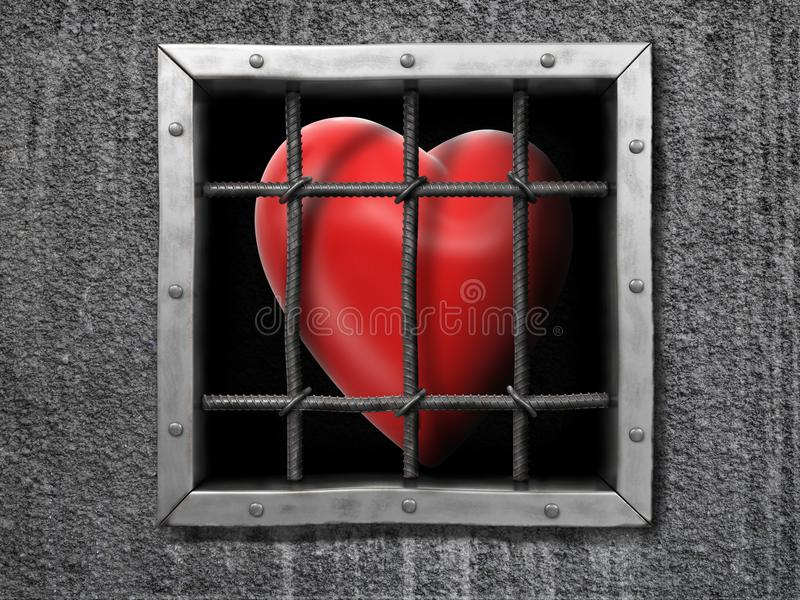 Картинки сердце за решеткой