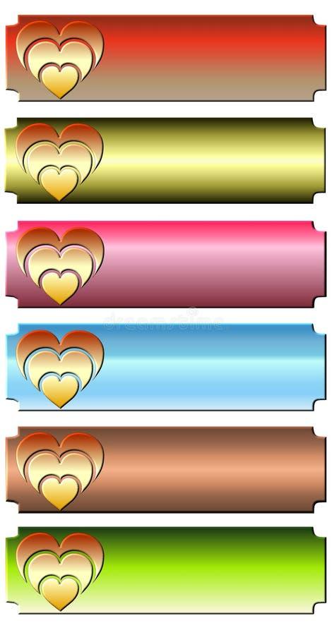 сердце знамени иллюстрация вектора