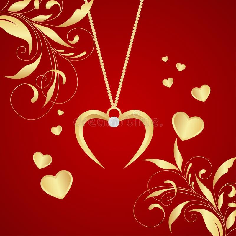 сердце золота иллюстрация штока
