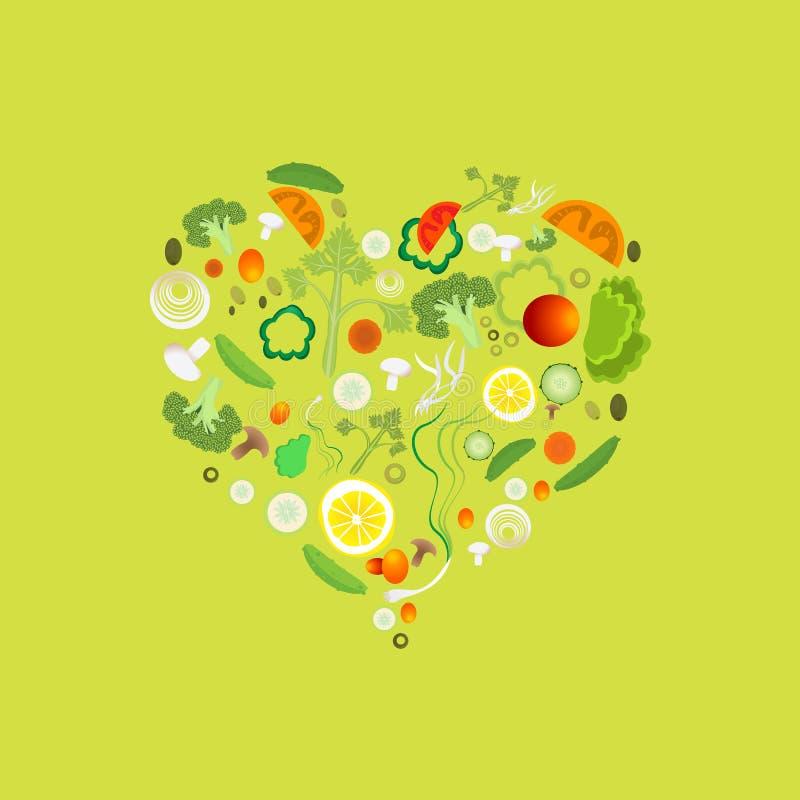Сердце картины овоща бесплатная иллюстрация