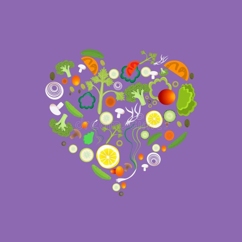 Сердце картины овоща иллюстрация штока