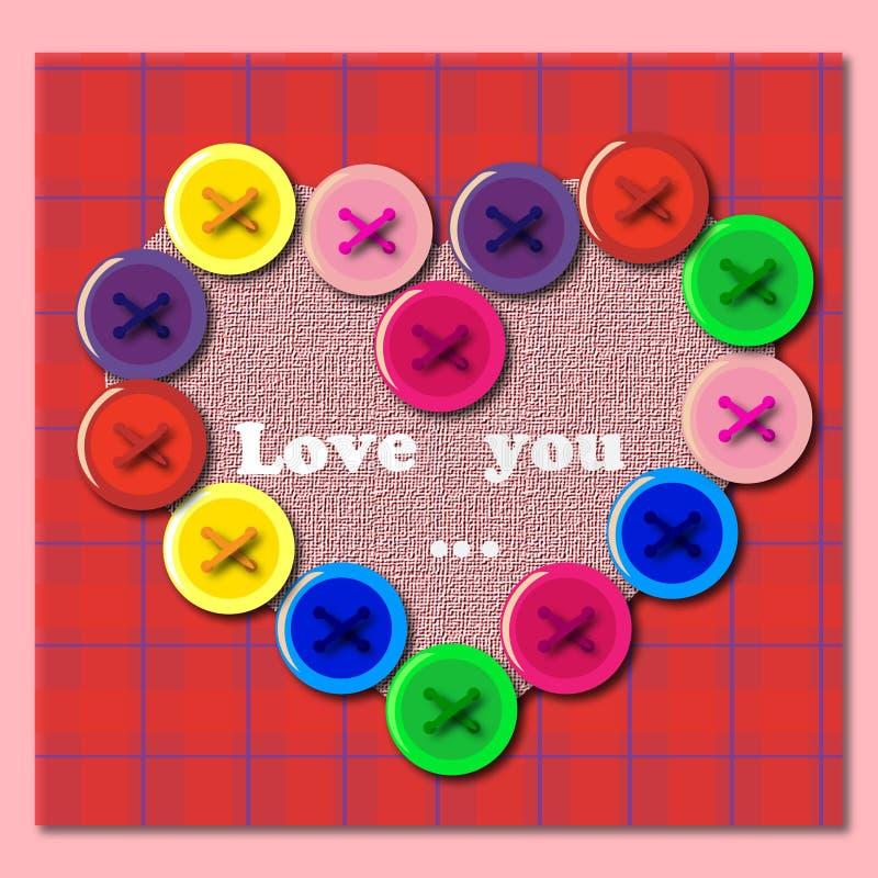 Сердце кнопки стоковое фото rf