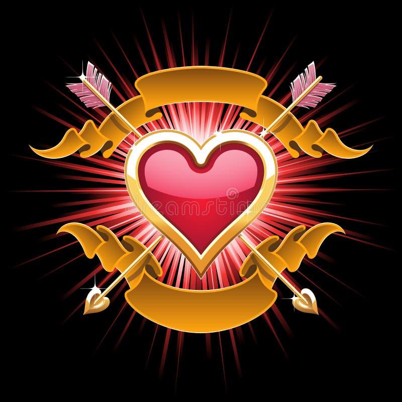 сердце конструкции золотистое бесплатная иллюстрация