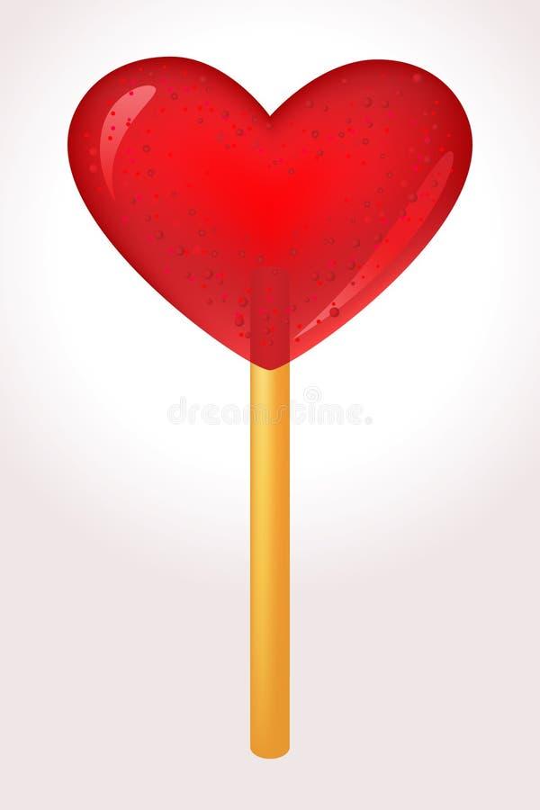 сердце конфеты иллюстрация штока