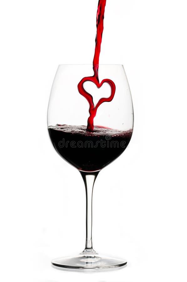 сердце красное вино стоковые фотографии rf