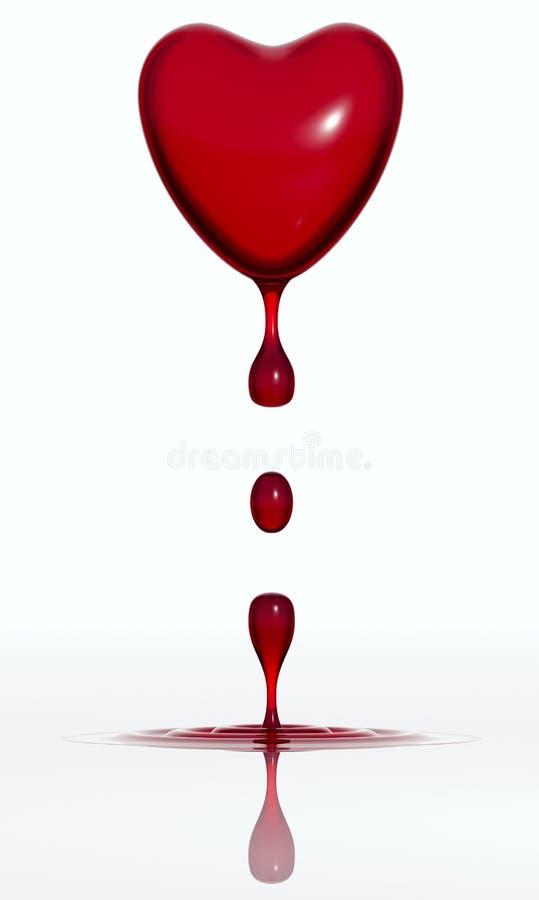 сердце крови падая бесплатная иллюстрация