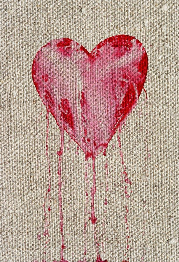 сердце кровотечения иллюстрация вектора