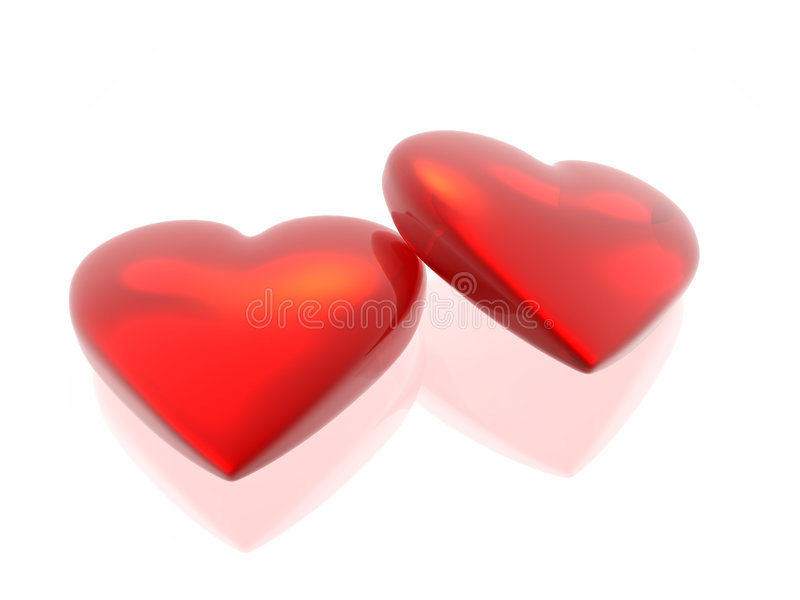 сердце любит совместно 2 бесплатная иллюстрация