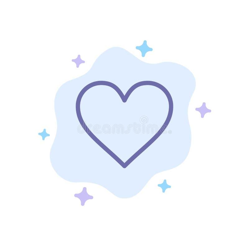 Сердце, любовь, вероятная, значок Twitter голубой на абстрактной предпосылке облака иллюстрация штока