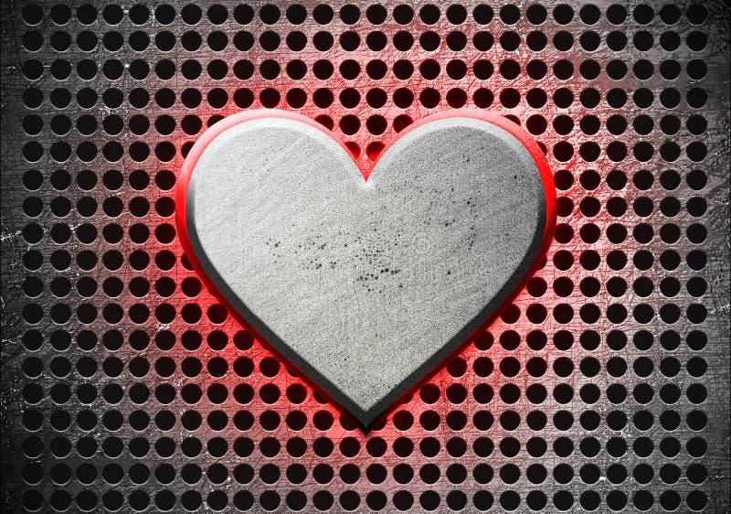 Сердце металла иллюстрация вектора