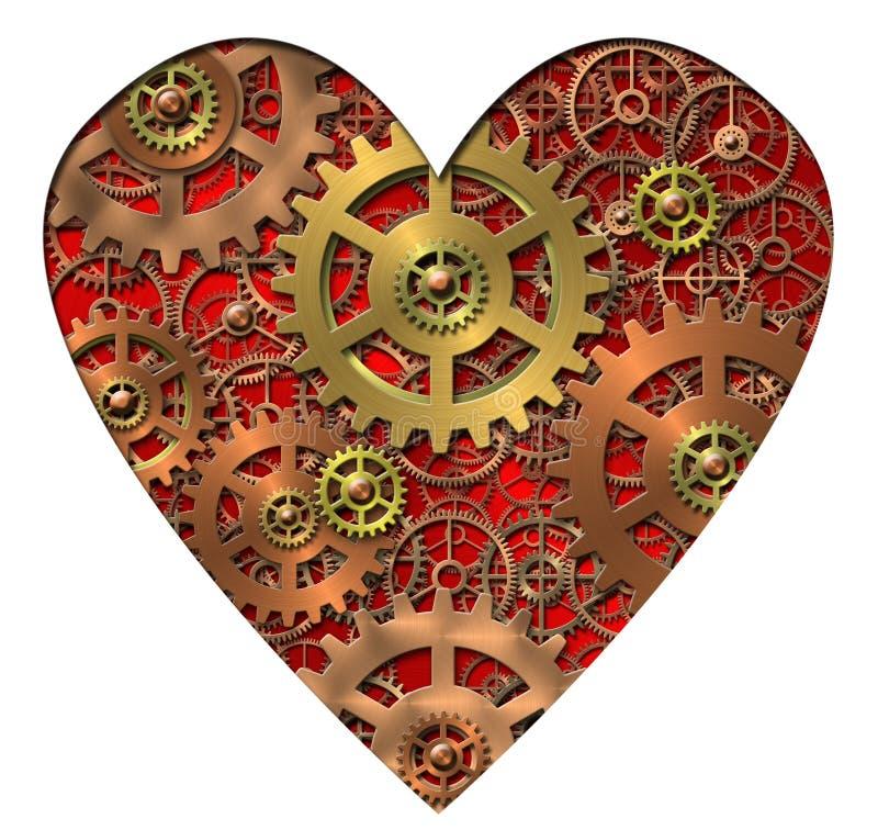 сердце механически иллюстрация вектора
