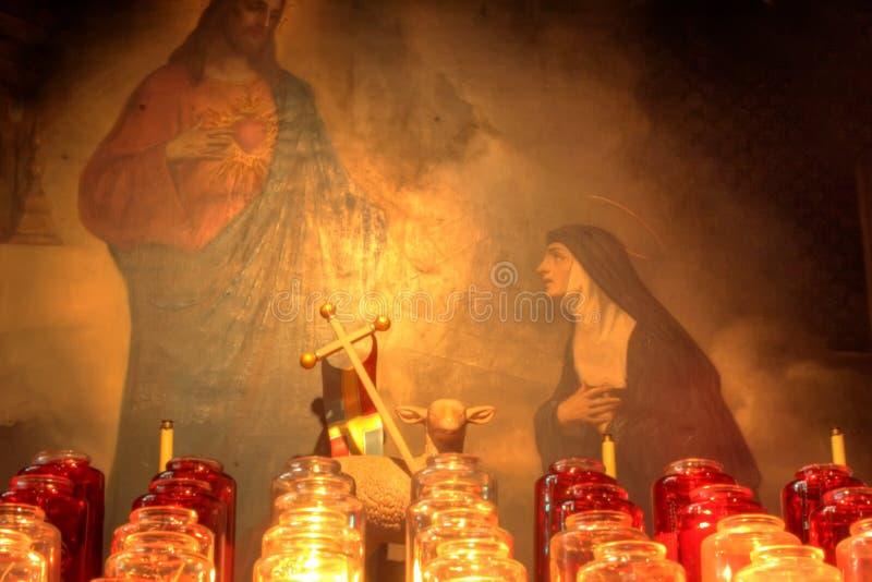 сердце освещает jesus стоковые фотографии rf