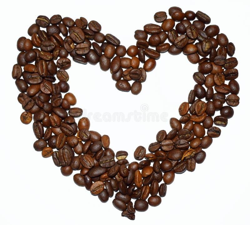 сердце от кофейных зерен стоковое фото
