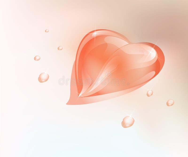 сердце падения иллюстрация штока