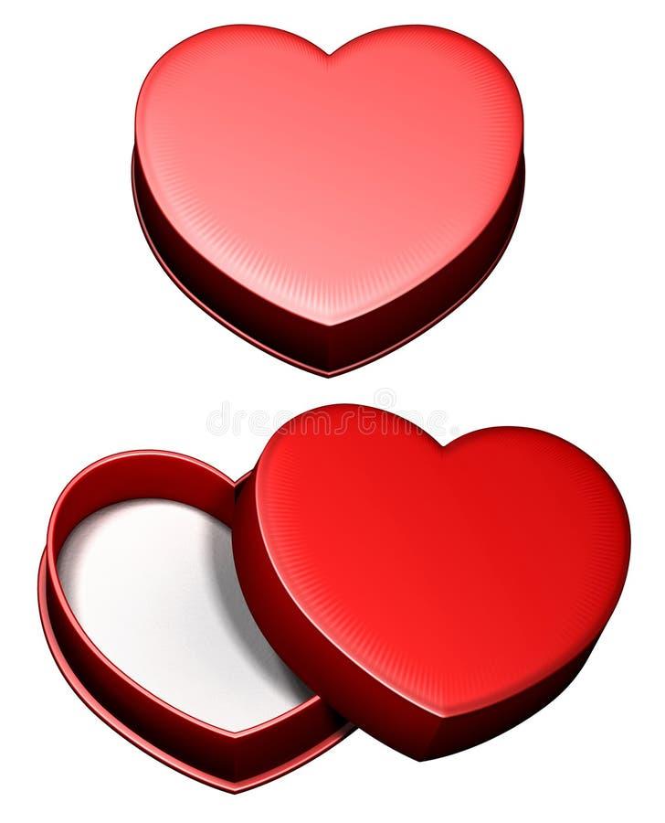 сердце подарка коробки иллюстрация штока