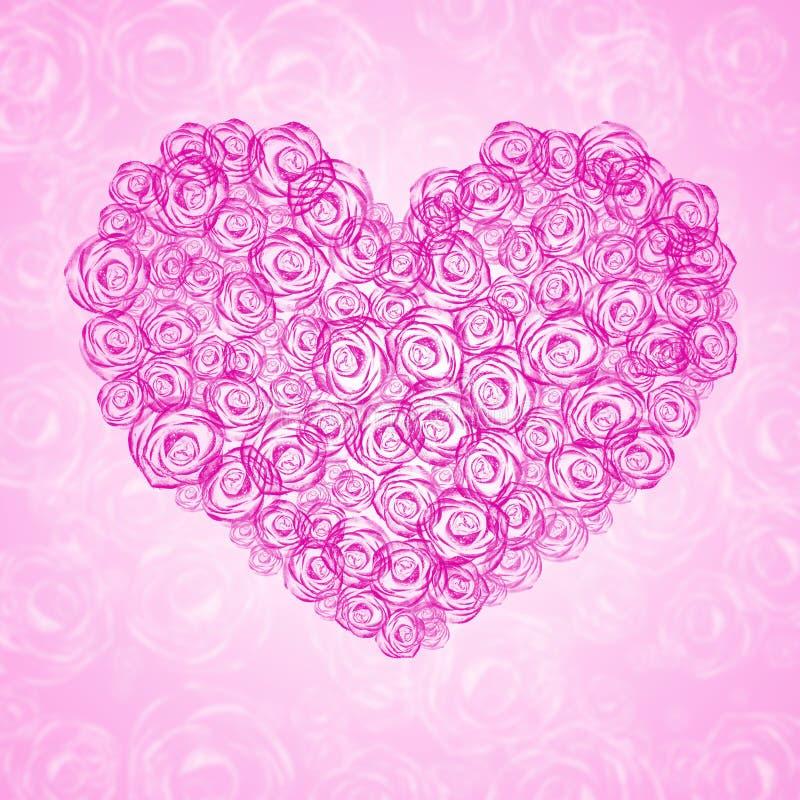 сердце предпосылки флористическое иллюстрация штока