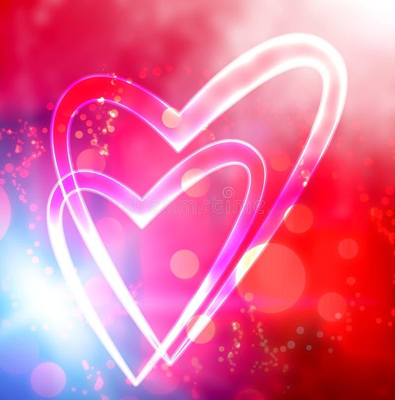 сердце предпосылки иллюстрация штока