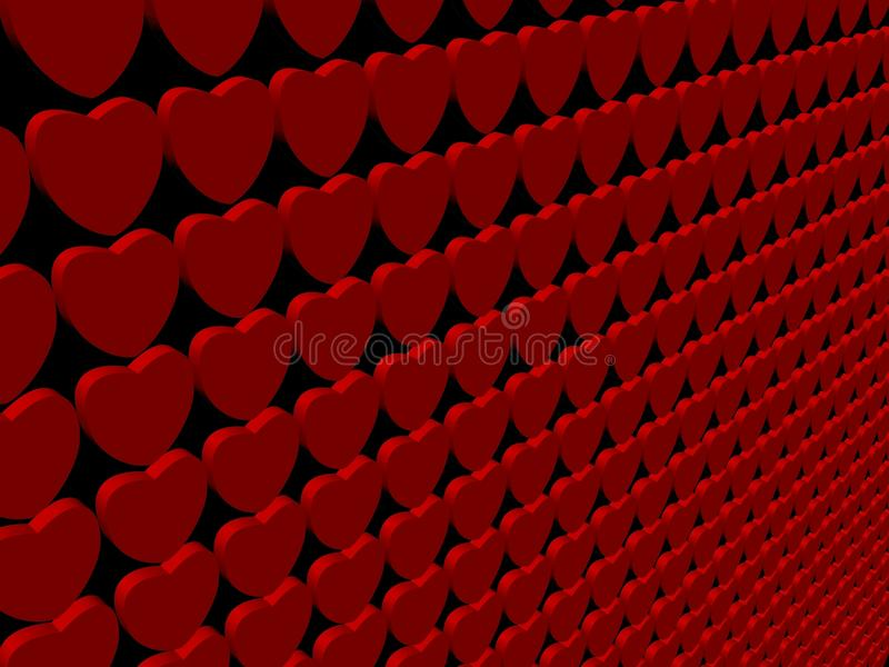 сердце предпосылки 3d представляет иллюстрация вектора
