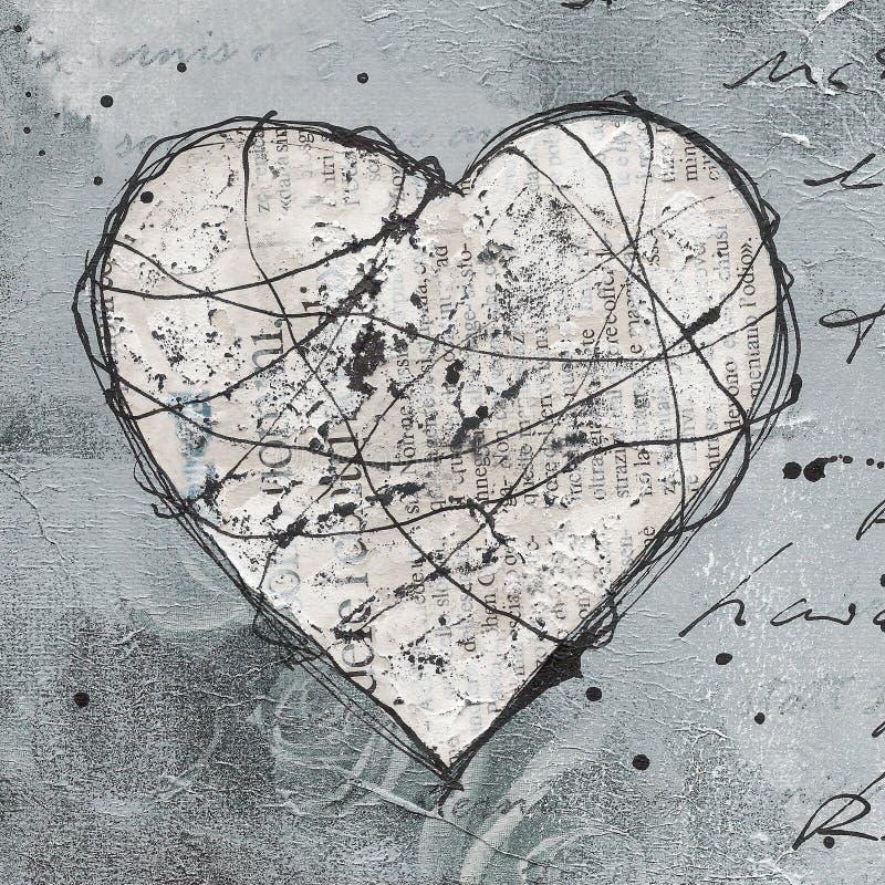 сердце произведения искысства иллюстрация штока
