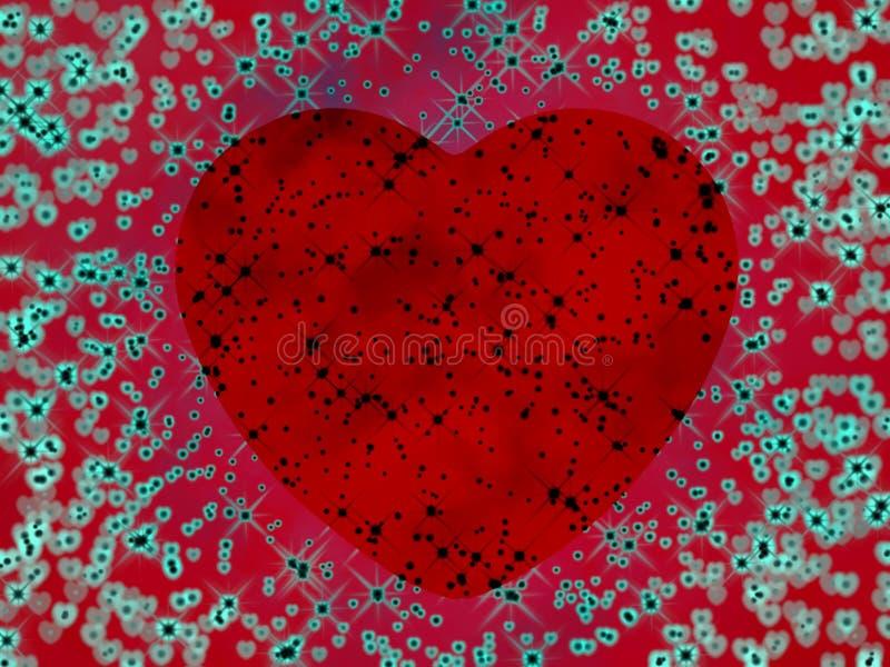 сердце психоделическое иллюстрация штока