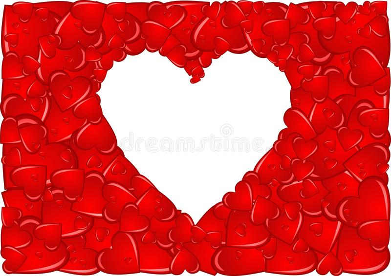 сердце рамки стоковое изображение