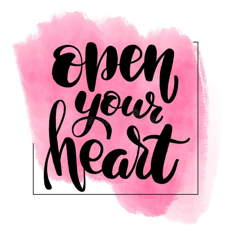 сердце раскрывает ваше иллюстрация штока
