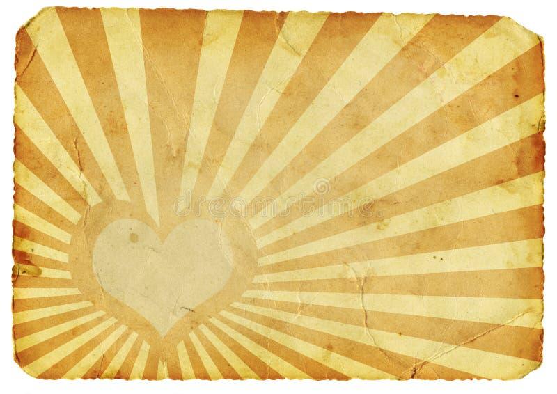 сердце ретро стоковое изображение