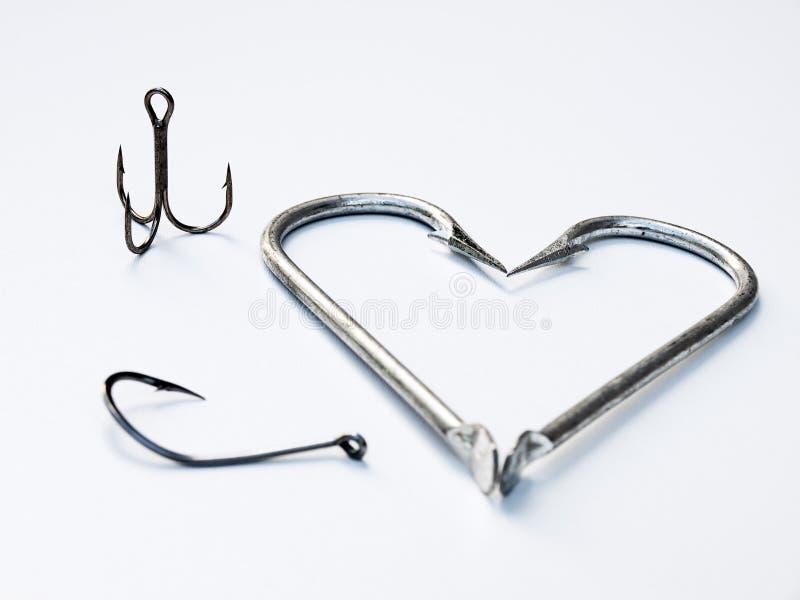 сердце рыболова стоковые изображения rf