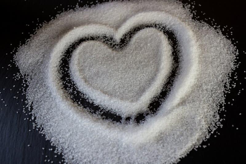 Сердце сахара стоковое изображение rf